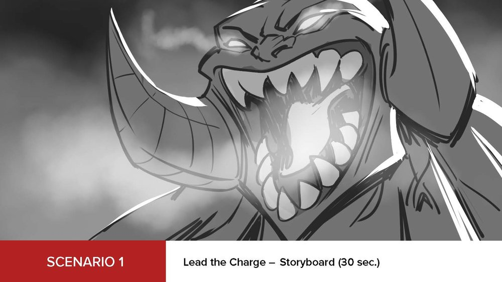 DUNGEON HUNTER CHAMPIONS | LAUNCH TRAILER STORYBOARD 1