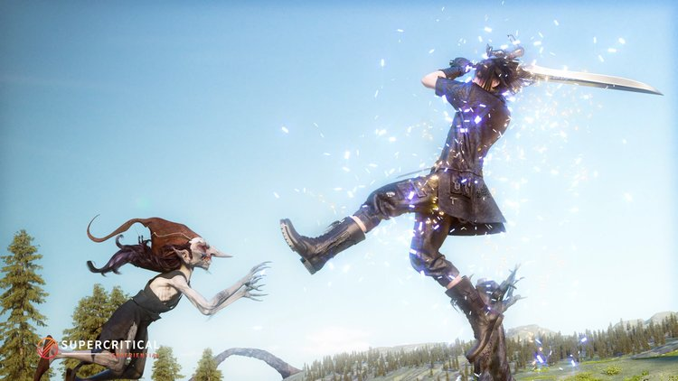 Final Fantasy XV Chain - Personnage en action