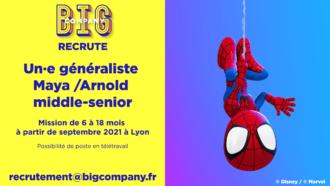 Big Jobs | Généraliste Maya/Arnold middle-senior 4