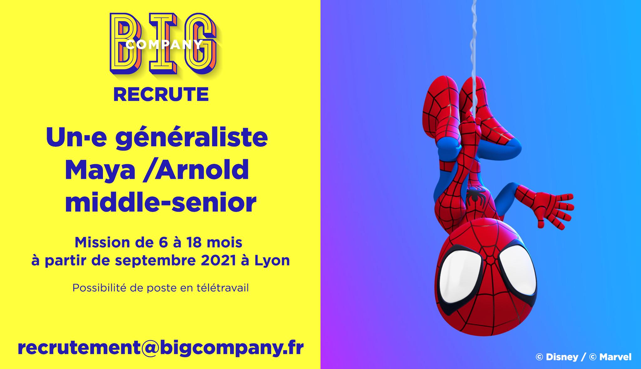 Big Jobs | Généraliste Maya/Arnold middle-senior 1