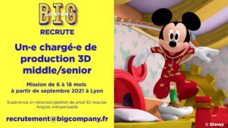 Big Jobs | Chargé(e) de production 3D middle/senior 3