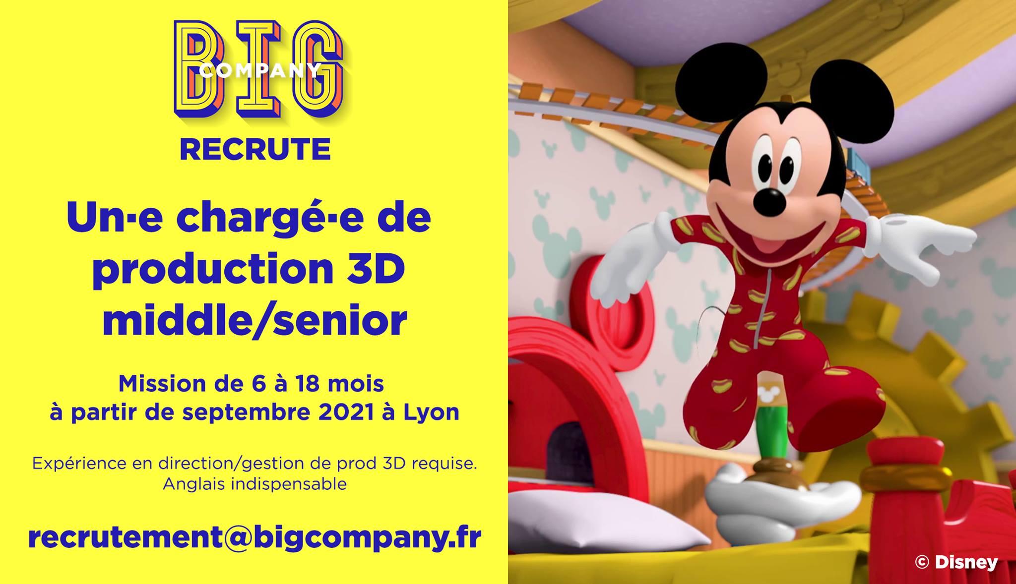 Big Jobs | Chargé(e) de production 3D middle/senior 1
