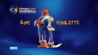 Rok et Koolette, mascottes du championnat du monde de handball 2016